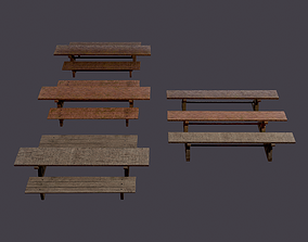 Tables and Benches Package 3D