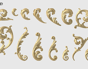 3D print model Acanthus Leaf Set