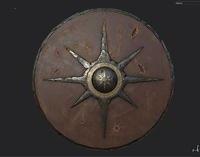 3D asset Viking historical leather-covered