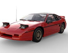 Pontiac Fiero GT 1988 3D asset