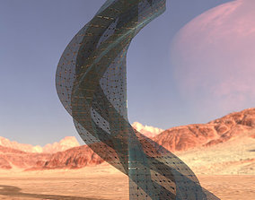 Sci fi Tower Glass Cage 3D model