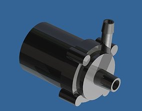 Small water pump design 3D model