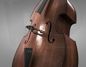 3D model PBR Double bass