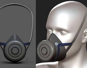 Gas mask respirator military combat protection 3D model