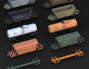 Railway Carriages pack 3D model