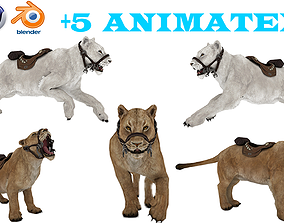 rigged tiger wild cat beast Low-poly 3D model animated