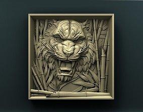 Tiger 3d stl model for cnc 3D print model