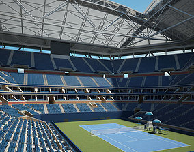 3D model Arthur Ashe Stadium