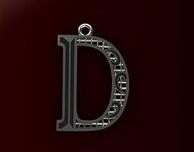 Alphabet Pendant pendants 3D print model