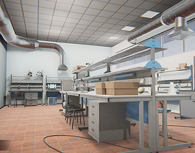 3D model Laboratory - interior and props
