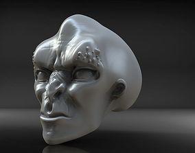 Alien head 3D print model