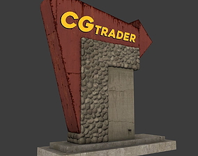 Motel Sign 3D model low-poly