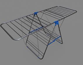 Realistic Indoor Laundry Dryer Rack Pbr 3D model