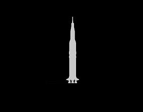 Saturn V Rocket 2D Cutout 3D model