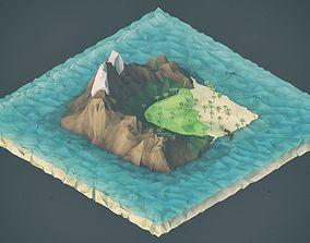 3D asset Low Poly Pirate Landscapes