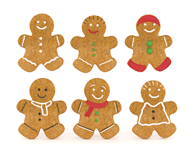 3D model Gingerbread Cookies