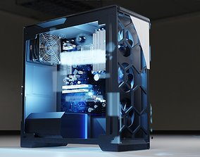 3D gaming desktop computer model