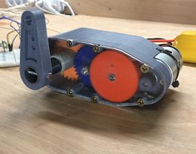 3D-printable High torque servo-gear reduction
