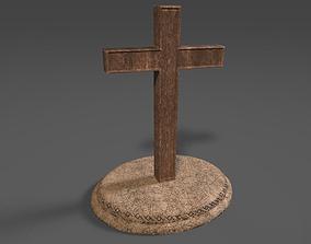 3D asset Church Cross