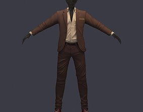 avatar cost shirt pants brown 3D asset shoes