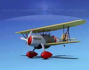 Curtiss P-6E Hawk V07 3D