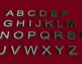 ARIAL font uppercase and lowercase 3D letters STL file