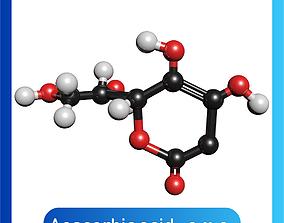Ascorbic Acid 3D Model Vitamin C Model C6H8O6
