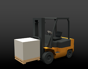 Forklift 3D model realtime box
