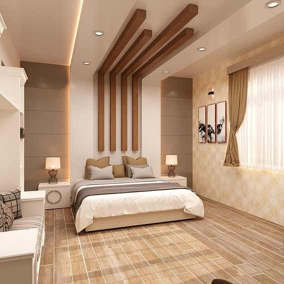bedroom interior design model