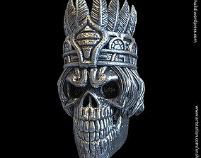 3D print model Tribal skull vol1 pendant
