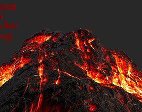 3D asset VR / AR ready Volcano
