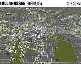 3D Tallahassee Florida USA 50x50km
