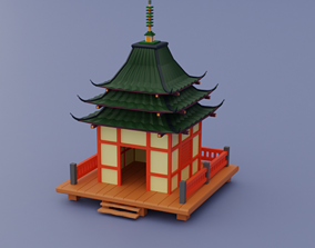 3D asset Ancient Chinese store