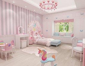 3D girls bedroom baby