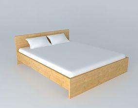 Bed DOORS HLOZ 160 BRW Milano Oak 3D