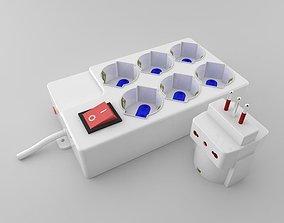 Power Socket Extension 3D model