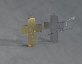 Simple luxury beautiful christian cross design 3d model