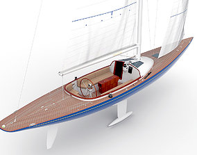 3D holland Leonardo yacht Eagle 44 BLUE