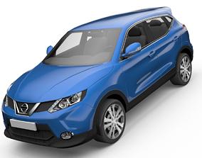 Nissan Qashqai SUV Low-poly 3D model animated