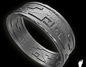 Aztec Ring Band 3D model