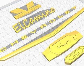3D print model chevy el camino logos stl