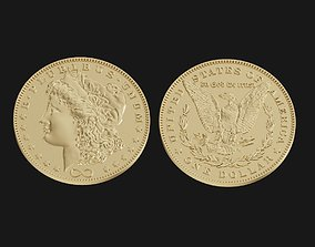 3D printable model One US dollar coin