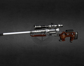 3D asset Tpg1-fortune17 Gun-weapon model