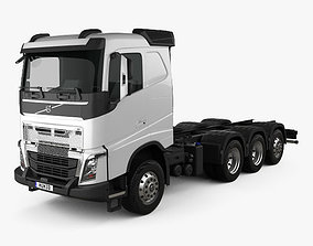 3D Volvo FH Chassis Truck 4-axle 2016