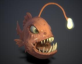 cartoon lamp fish 3D asset