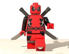3D model Deadpool Lego Character