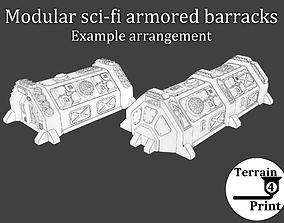 Sci-fi armored barracks 3D print model