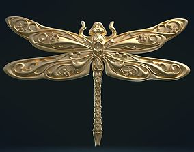 3D printable model Dragonfly Relief hobby