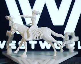 3D printable model WestWorld diorama - woman riding 3