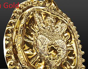 royal heart pendent 3D print model